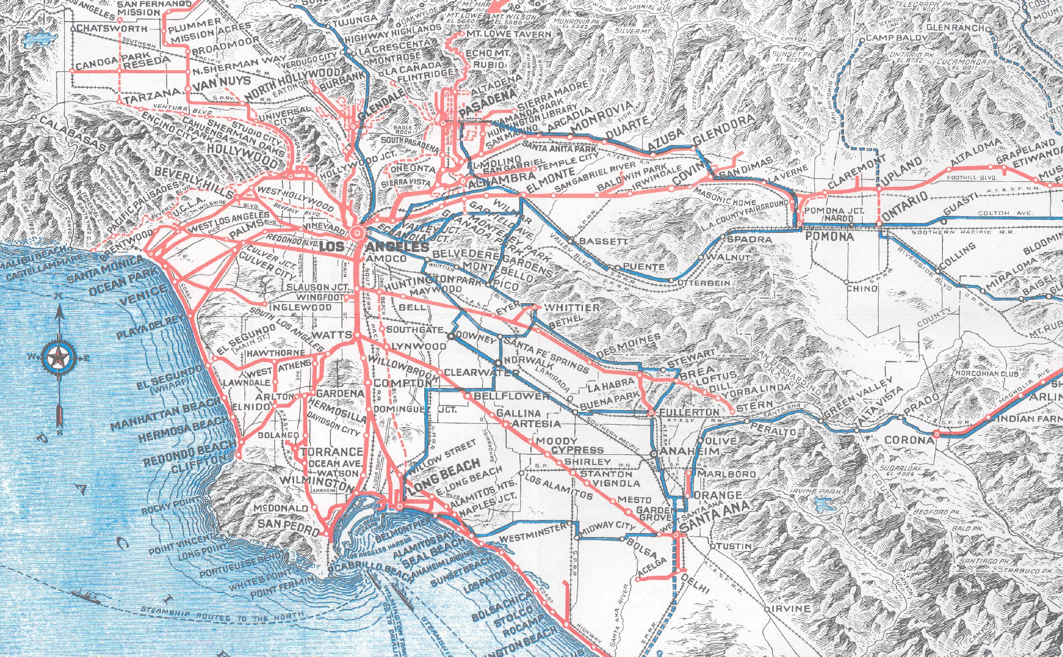 Los Angeles In Maps  The Curious Case Of Miss Laura J Whitlock - Los angeles in map
